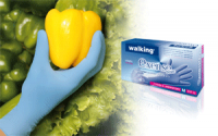 Нитрилови ръкавици с повишена чувствителност Exense, сини