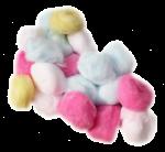 Цветни памучни тампони